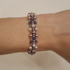 Swarovski crystal hand made bracelet 6.25 inches